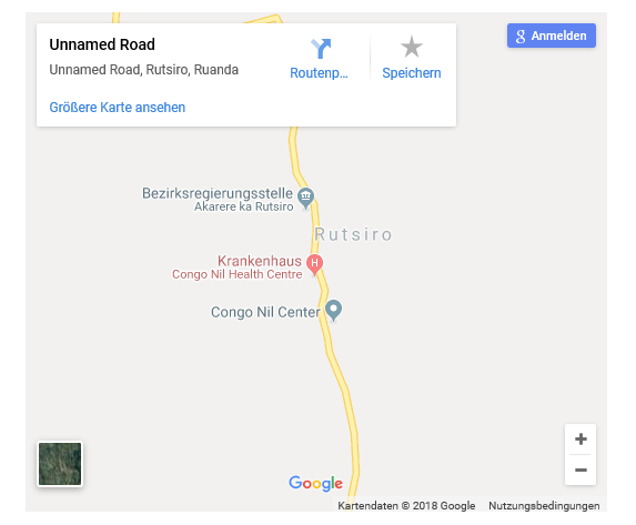 Google maps screenshot of Rutsiro