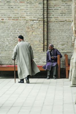 Old man going to the mosque in Bukhara (2006)